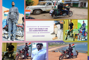Gota Satish Kumar Prosthetic Leg Bike record