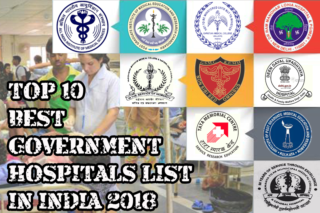 Top 10 Best Government Hospitals List In India 2018