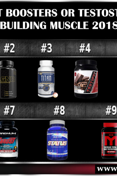 Top 10 Test Boosters Testosterone For Build Muscle 2018