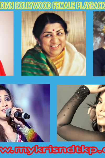 Top Indian Bollywood Female Playback Singers