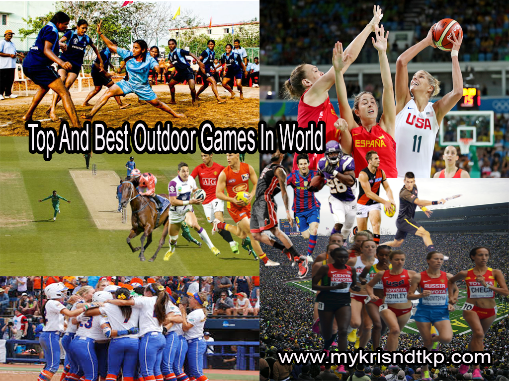 Top And Best Outdoor Games In The World