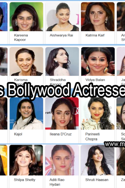 Famous And 100 Top Bollywood Youngest Hottest Actresses