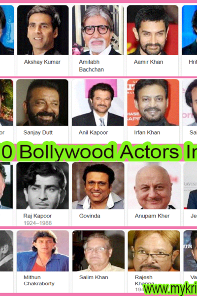 Top 100 Bollywood Actor In India