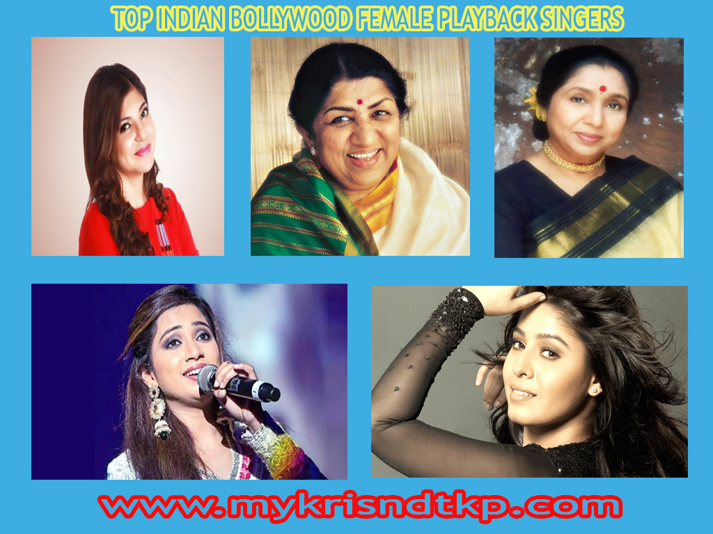 Top Indian Bollywood Classical Female Playback Singers List With Photo